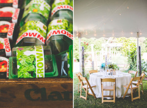 Greensboro Tent Rentals | The Farmhouse Inn at 100 Acre Farm | Rustic Folding Chairs and Wedding Favors